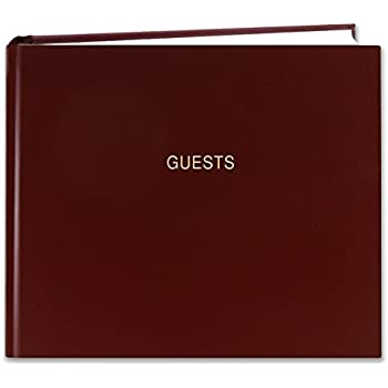 """Amazon.com : BookFactory Leather Funeral Guest Book """"A"""