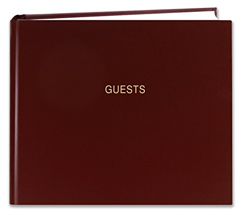 Bookfactory Guest Book  120 Pages    Guest Sign In Book   Guest Registry   Guestbook   Burgundy Cover  Smyth Sewn Hardbound  8 7 8  X 7   Log 120 Guest A Lmt25