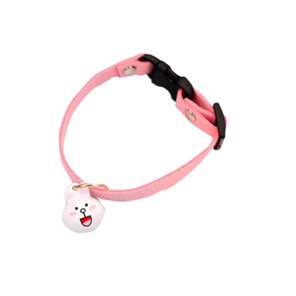 4 M  4 M Pet Cartoon Bell Collar Small Dog Teddy Bear Necklace Dog cat Rabbit Handmade Jewelry Collar Chain Training (color    4, Size   M)