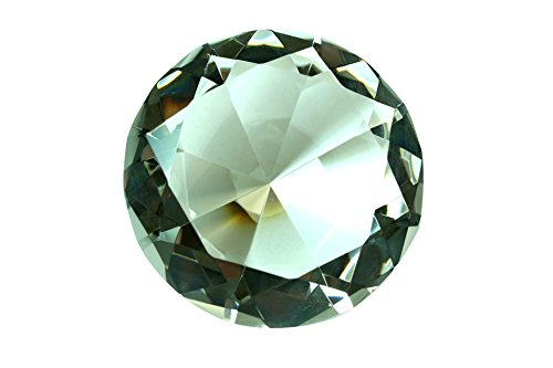 Swarovski Table Diamonds - 100 mm Clear Diamond Shaped Crystal Jewel Paperweight by Tripact - 04