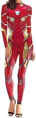 QQWE The Avengers Iron Man Nuevo Cosplay Disfraz Mujer Vestido de ...