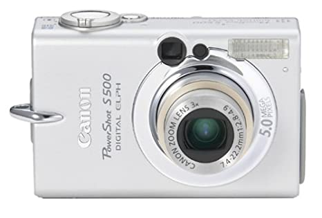 amazon com canon powershot s500 5mp digital elph with 3x optical rh amazon com Canon PowerShot ELPH 510 Canon PowerShot ELPH 180
