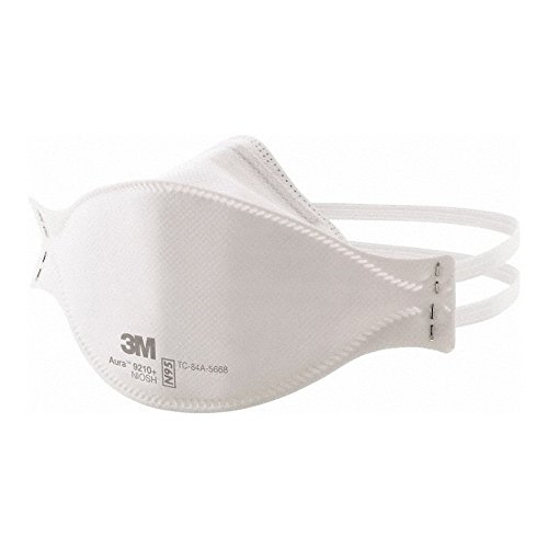 3M 50051131371922 Aura 9210PLUS Three-Panel Disposable N95 Respirators, Standard, White (Pack of 20) by 3M (Image #1)