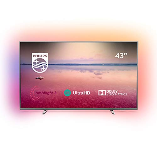 Philips Ambilight 43PUS6754/12 TV 43 inch LED Smart TV (4K UHD, HDR 10+, Dolby Vision, Dolby Atmos, Smart TV) dark silver