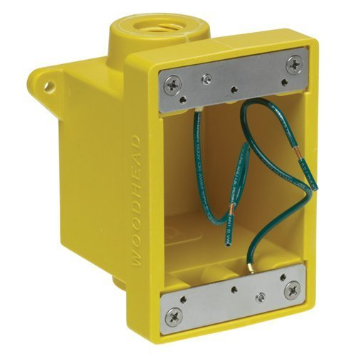 Woodhead 453CR Watertite FD Box, 2 Knockout Openings, Yellow, 3/4'' Thread Diameter by Woodhead