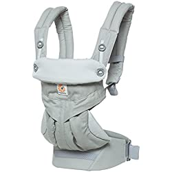 Ergobaby 360 All Carry Positions Award-Winning Ergonomic Baby Carrier, Pearl Grey