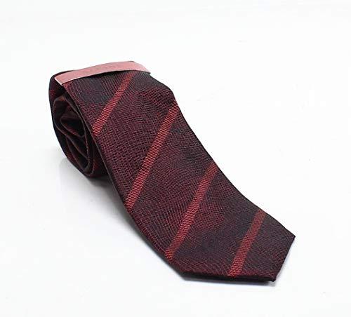 Alfani Mens Linda Silk Striped Neck Tie Red -