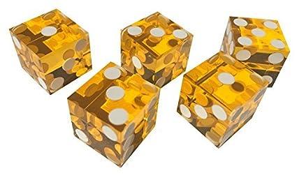 19mm gelb Casino-Würfel 5 Stück