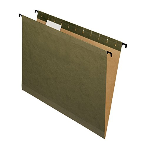 5 Tab Poly File Folders - Pendaflex SureHook Reinforced Hanging Folders, Letter Size, Standard Green, 20 per Box (6152 1/5)