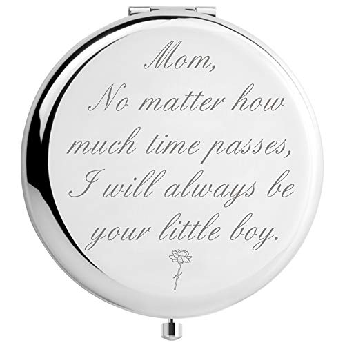 DIDADIC Mom Birthday Gifts from Son Funny, Engraved Present for Mother (MIR-Little-BOY)
