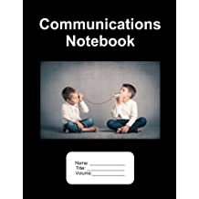 """Communications Notebook. 500 Pages Lined Paper. 8.5""""x11"""""""