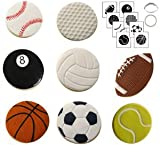 Autumn Carpenter Designs Sports Ball Cookie Cutter & Impression Mat Set