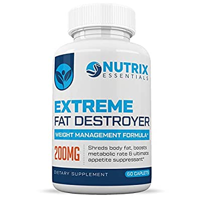 Extreme Fat Burner :: All-Natural Ingredients :: Boosts Your Metabolism :: Burn More Calories :: Promotes Energy :: 1 Month Supply :: Nutrix Essentials