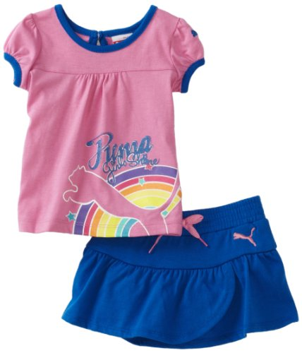 PUMA   Kids Baby Girls' Tee And Jersey Skort Set, Pink, 24 Months