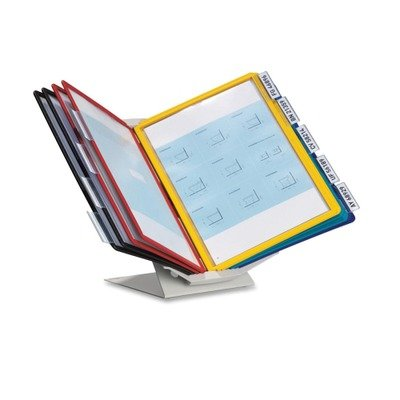 Durable Products - Durable - Vario Pro Desktop Reference System, 10 Panels, 9 7/8 x 15 1/2 x 6 1/4 - Sold As 1 Each - Mix horizontal and vertical pages. - For use on desk or wall. - Glare-free panels.