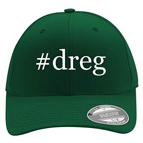 #Dreg - Men's Hashtag Flexfit Baseball Cap Hat, Forest, Large/X-Large