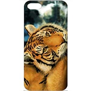 DIY Apple iPhone 5 Case Customized Gifts Personalized With Animals Tiger Painting Wide Birds Tigers Animals White...