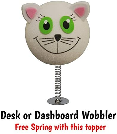 White Cat Car Aerial Ball Antenna Topper Save money by buying 2 or more of our many designs. ONLY ONE P/&P charge per AERIALBALLS order