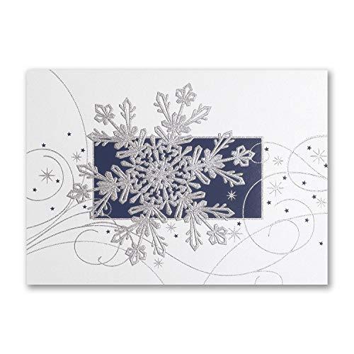 1200pk Glittering Snowflake - UNICEF-Charity Cards