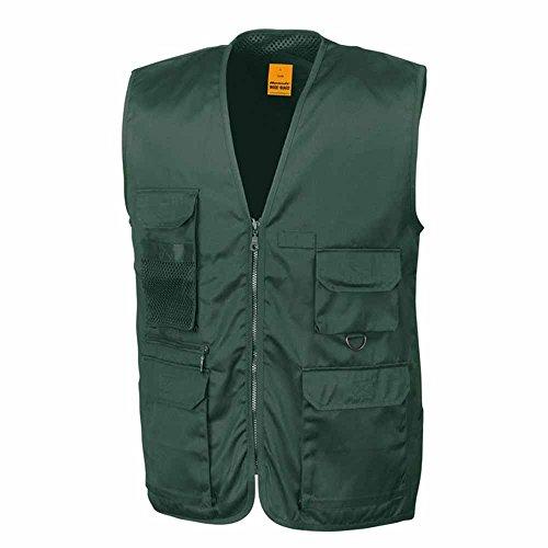 RESULT-Weste reporter multipoches-leichte Jacke Weste BODYWARMER-Referenznummer R045X-grün, unisex, für Damen und Herren