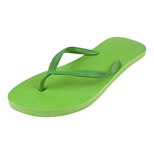 Infradito Da Spiaggia Luminosa Da Donna Ebuygb - Sandalo Estivo In Schiuma Verde
