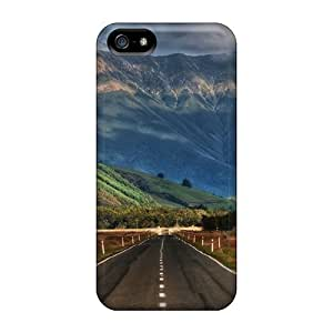 Ultra Slim Fit Hard ChrismaWhilten Cases Covers Specially Made For Iphone 5/5s- Road In New Zealand