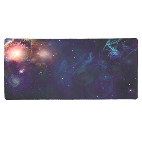 Extended Mouse Pad – Large Desk Pad Mouse Pad, Cosmos Theme, Non-Slip and Water Resistant Surface, 34.5 x 15.8 Inches