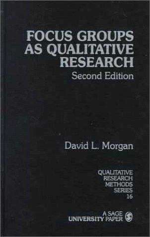 Focus Groups as Qualitative Research (Qualitative Research Methods)