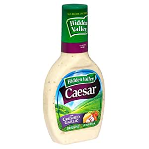 hidden valley caesar dressing crushed garlic 16 ounce bottles pack of 6. Black Bedroom Furniture Sets. Home Design Ideas
