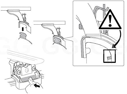 Mercedes GLC 2015 onwards Flush Rails Thule Roof Rack Rail Bars Lockable