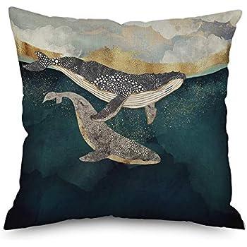 Amazon Com Andreannie Oil Painting Deep Sea Sharks Whale