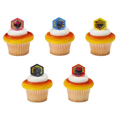 Power Rangers Morphinominal Cupcake Rings - 24 (Power Rangers Birthday Cake)