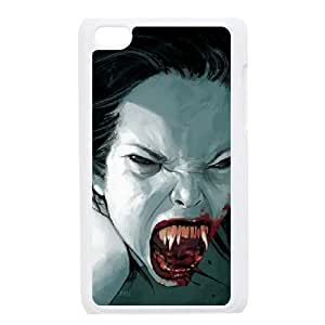 Zombie Series,Ipod Touch 4 Case,Zombie Vampire Fang Phone Case For Ipod Touch 4[White]
