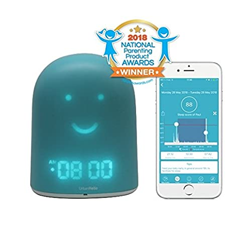 UrbanHello REMI - 5-in-1 Baby and Children Sleep Tracker - Time-to-Rise Face - Night Light & Sound Machine - Bluetooth speaker - Secure Two-Way Communication Audio Baby Monitor - Blue Color - 41GSA ECTrL - UrbanHello REMI – 5-in-1 Baby and Children Sleep Tracker – Time-to-Rise Face – Night Light & Sound Machine – Bluetooth speaker – Secure Two-Way Communication Audio Baby Monitor – Blue Color