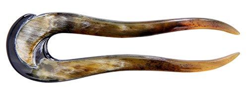Marycrafts Big Buffalo Horn Hair Fork, Hairfork, Hair Pin, Hairpin, Hair Accessory, Hair Toy Handmade 5.51