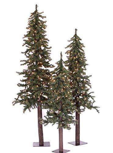(Prugist StNick Natural Triple Alpine Christmas Tree Set, 2ft/3ft/4ft)