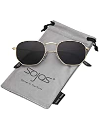 Small Square Polarized Sunglasses for Men and Women Polygon Mirrored Lens SJ1072