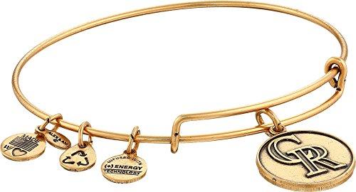 Alex and Ani Colorado Rockies Cap Logo Expandable Rafaelian Gold Bangle Bracelet (Colorado Rockies Charm)