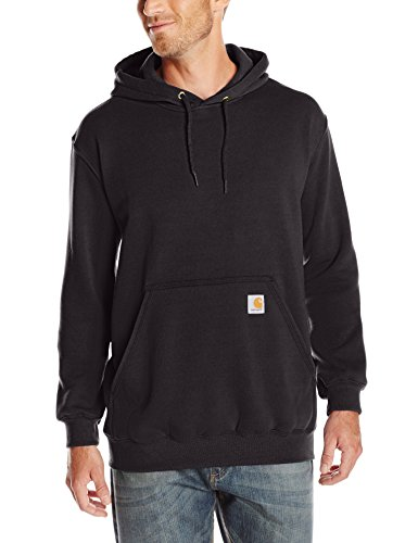 Carhartt Men's Midweight Hooded Sweatshirt,Black,Large