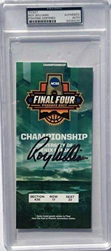 (Roy Williams Autographed Signed Memorabilia North Carolina 2017 Championship Basketball Ticket - PSA/DNA Authentic)
