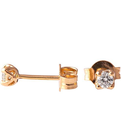Moissanite Solid Earrings (18K Solid Rose Gold Unique Celtic Earrings For Women Set With Forever Brilliant Moissanite)