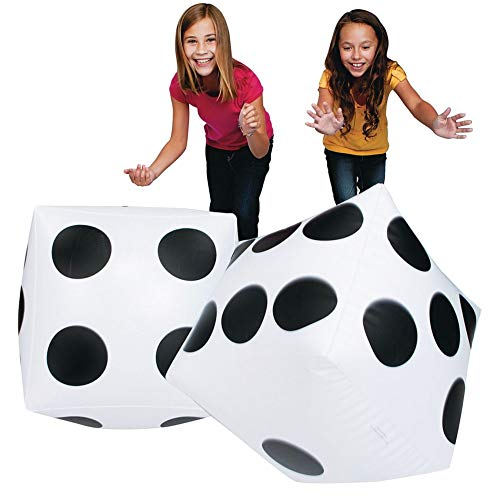 S&S Worldwide 17750 Jumbo Inflatable Dice (Pair), (Pack of 2)]()