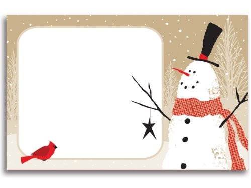 50 pack Woodland SnowmanNo Sentiment Enclosure Cards (20 unit, 50 pack per unit.) by NAS