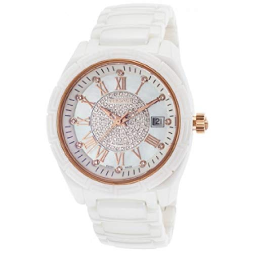 Versace Unisex 01ACP1D98F SC01 DV One Analog Display Automatic Self Wind White Watch