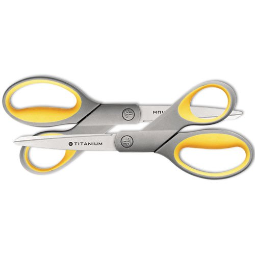 Westcott Straight Titanium Scissors with New Handle Design, 8'', Two per Pack, Case of 72 (13901) by Westcott