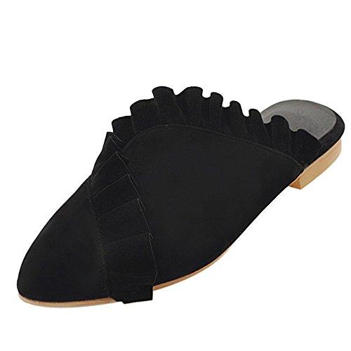 Coolcept Women Comfy Closed Toe Mules Black xjfGjU