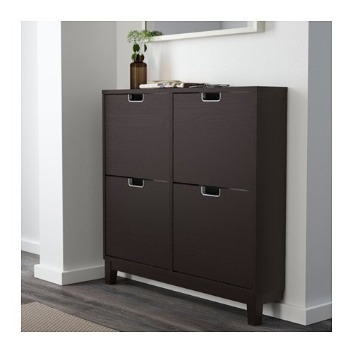 ikea stall shoe cabinet with 4 compartments black brown buy online in uae kitchen products. Black Bedroom Furniture Sets. Home Design Ideas