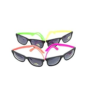 Neon 80's Style Party Sunglasses (2 Dozen)