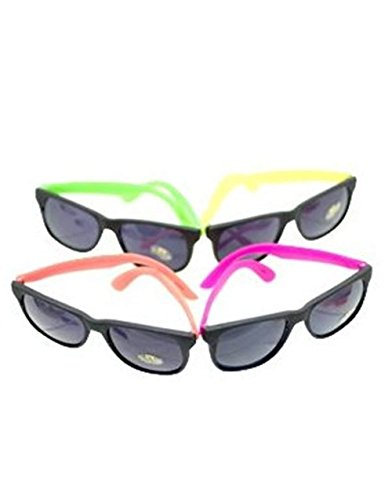 Neon 80's Style Party Sunglasses (2 - Sunglasses Dozen By The