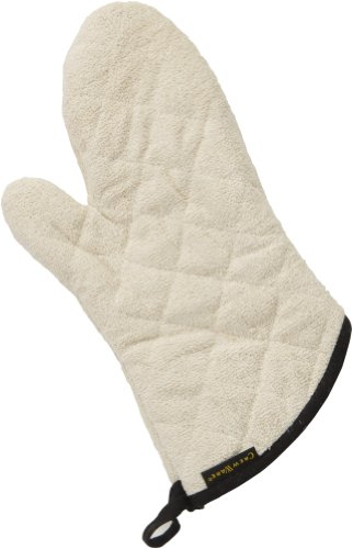 - San Jamar 813TM Heavy Duty Terry Cloth Temperature Protection Oven Mitt, 13